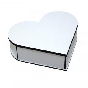 Caixa MDF Porta Jóias em Formato Coração