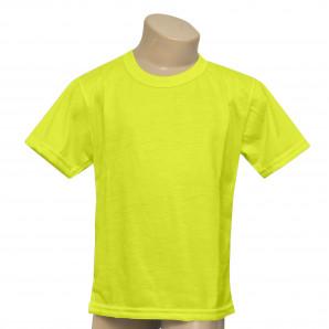 Camisa Infantil Amarelo Neon