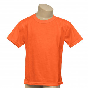 Camisa Infantil Laranja Neon