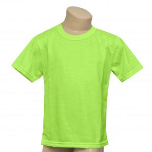 Camisa Infantil Verde Neon