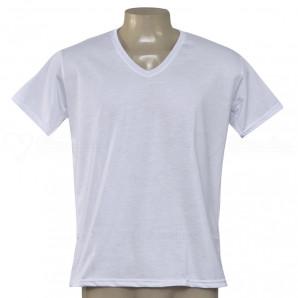 Camisa Poliéster Gola V