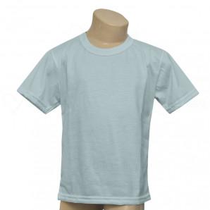 Camiseta Poliéster Tradicional Azul Infantil