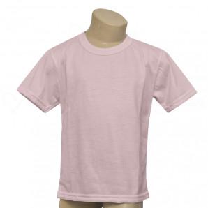 Camiseta Poliéster Tradicional Rosa Infantil