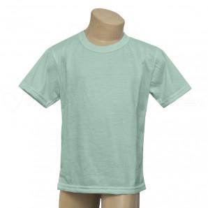 Camiseta Poliéster Tradicional Verde Infantil