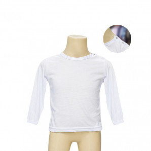 Camiseta Poliéster Tradicional Manga Longa Veste 1