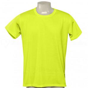 Camisa Poliéster Tradicional Amarelo Neon