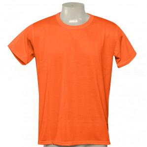 Camisa Poliéster Tradicional Laranja Neon