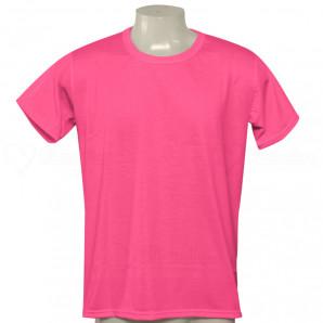 Camisa Poliéster Tradicional Pink Neon