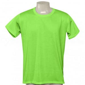 Camisa Poliéster Tradicional Verde Neon