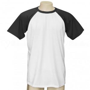 Camiseta Raglan Manga Preta