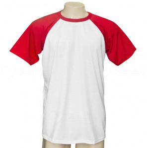 Camiseta Raglan Manga Vermelha