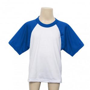 Camiseta Raglan Manga Azul Infantil