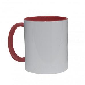 Caneca de Cerâmica Interior e Alça Vermelha
