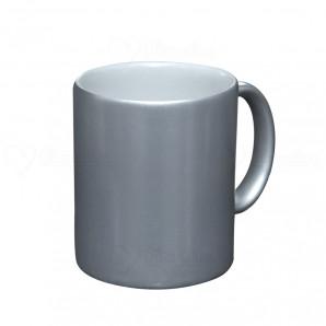 Caneca Cerâmica Prata Perolada