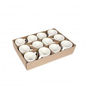 Caneca Cerâmica Branca Importada PREMIUM 325 ML 12 Un