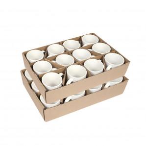 Caneca Cerâmica Branca Importada PREMIUM 325 ML 24 Un