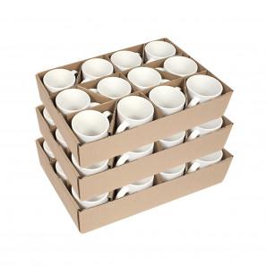 Caneca Cerâmica Branca Importada PREMIUM 325 ML 36 Un
