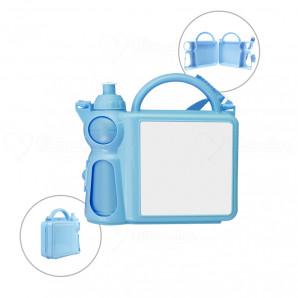 Lancheira escolar com garrafa para sublimação Azul