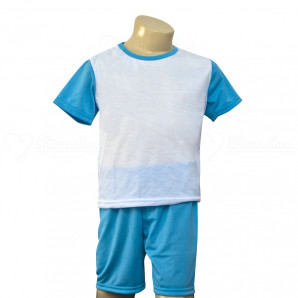 Pijama Infantil Curto Azul