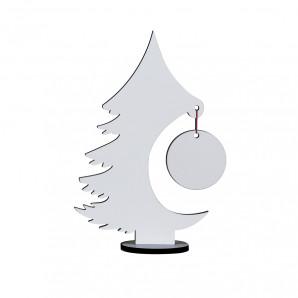 Pinheiro de Natal c/ suporte- em MDF 6 mm