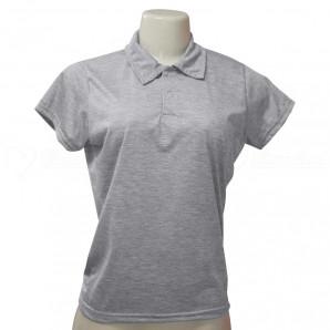 Camisa Polo Feminina Mescla