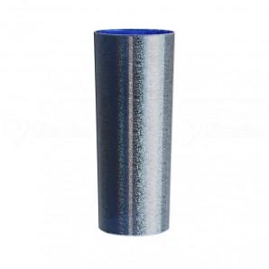 Copo Long Drink | Metalizado Prata Int. Azul Neon